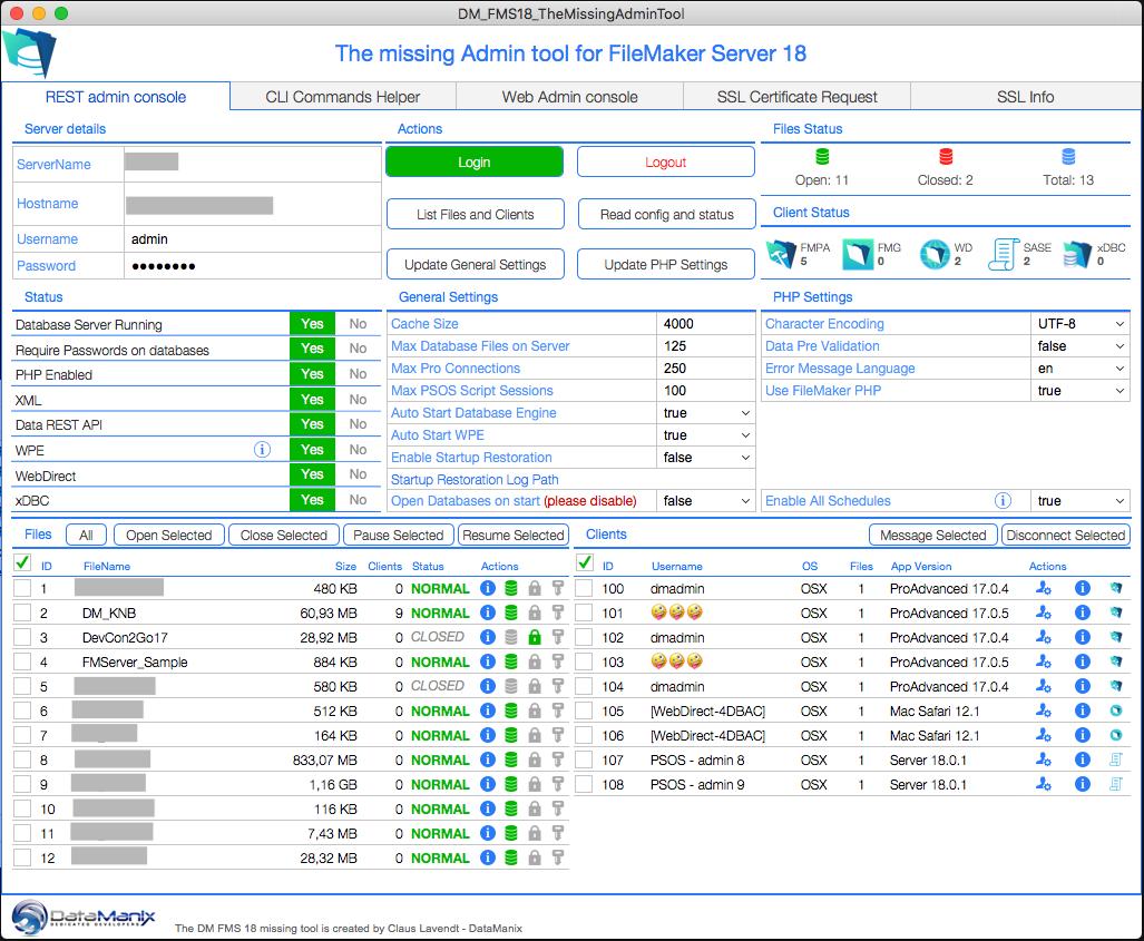 FileMaker Server 18 Admin Tools