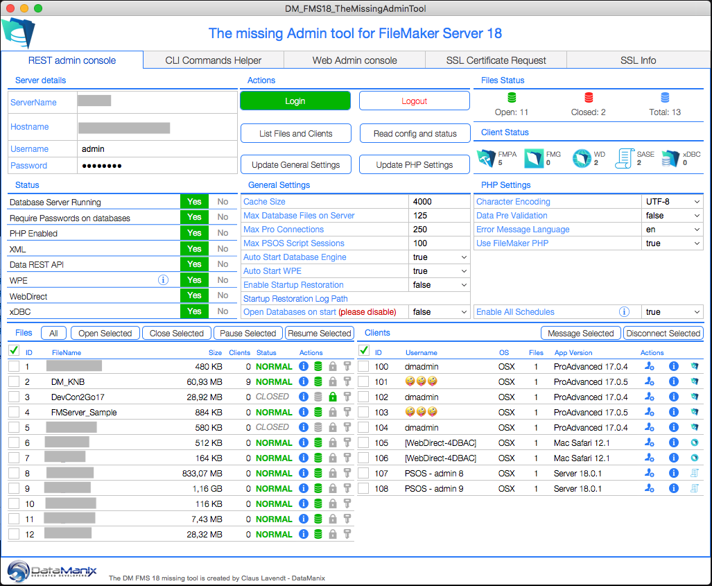 The Missing FileMaker Server 18 Admin Tool