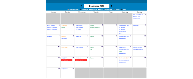 Create Calendar in FileMaker with Monday Start of Week