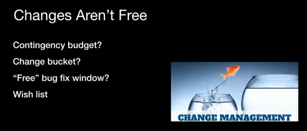 Changes Aren't Free
