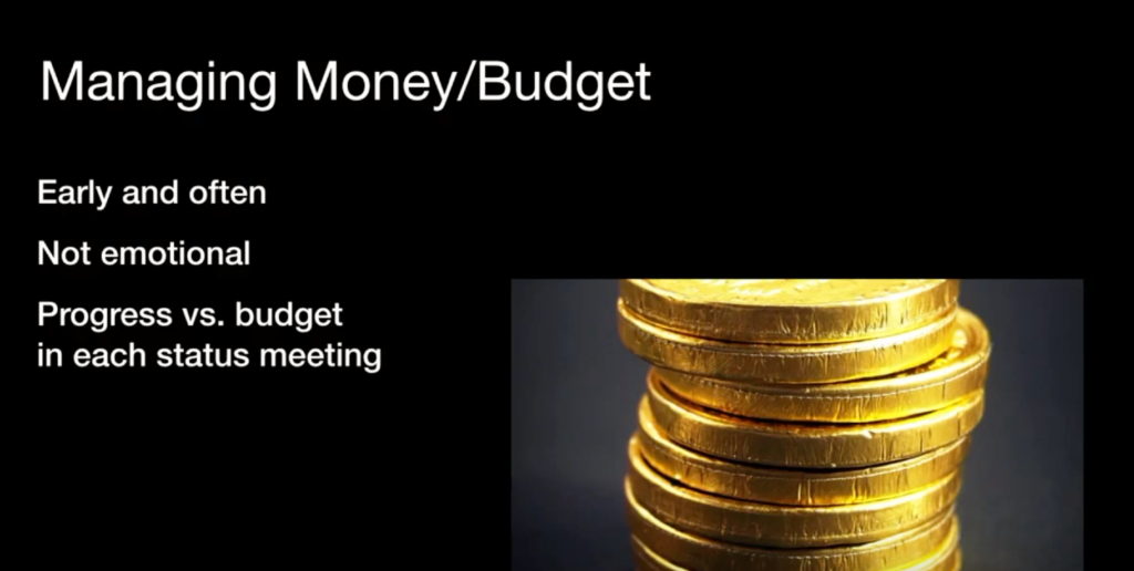 Managing Money and Budget