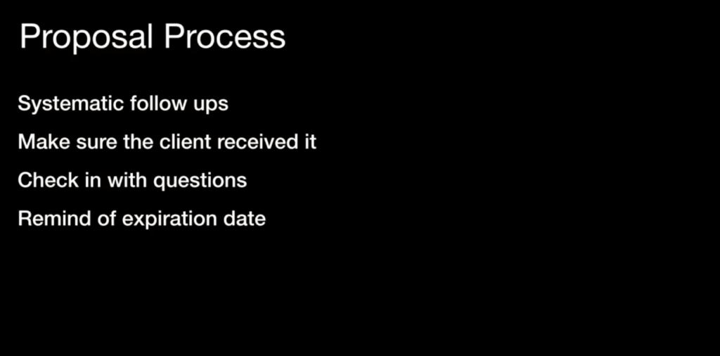 Proposal Process - Follow up