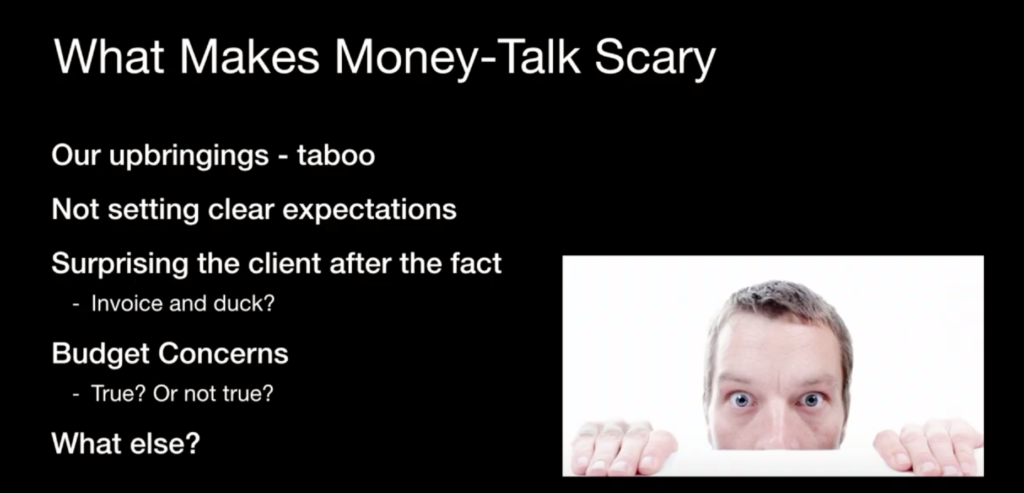 What Makes Money-Talk Scary